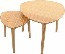 XIAOLULU Table D'appoint à Café2 Pièces