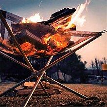 XiaoOu Réchaud de Camp Pliant Fire Outdoor