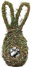XIAOQI Couronne de lapin de Pâques pour porte -