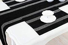 XIAOXIXI Chemin De Table,Chemins De Table Noirs,