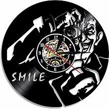 xiaoxong658 Horloge Murale en Vinyle Clown Smiley