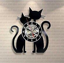 xiaoxong658 Horloge Murale en Vinyle Musique