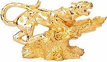 XIAOZHEN Sculpture de léopard pour enfant,