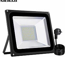 XICHAO Projecteur LED 100W Lampadaire exterieur