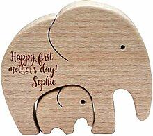 XIHUANNI Décoration éléphant mère et enfant en