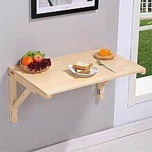 XINGDONG Table murale en bois massif à fixer au