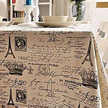 XINGXIAOYU Nappe Rouge Nappe de Table en Coton et