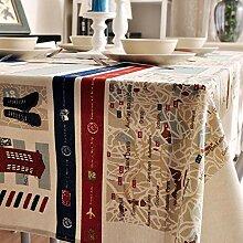 XINGXIAOYU Nappes Papier Nappe de Table en Coton