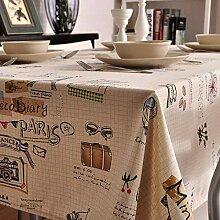XINGXIAOYU Tissu de Table antitache Nappe de Table