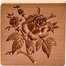 XINSTAR Moule à biscuits en bois sculpté pour