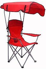 XINX Folding Camp Chaise avec Porte-Gobelet Et