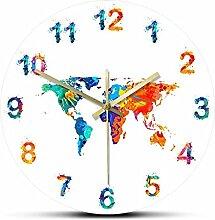 Xinxin Horloge murale décorative silencieuse en