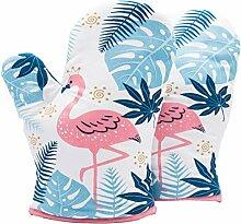 Xinyanmy Flamingo Gants de Four 1 Paire,Anti