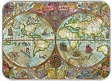 XIXIKO Set de table vintage avec carte du monde