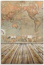 xizhuang Poster vintage carte du monde