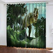 XKSJWY Rideau Salon Occultant 3D Dinosaure Animal