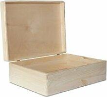xl boîte de rangement en bois grande - 40 x 30 x