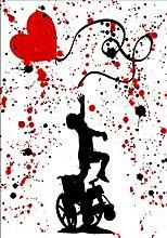 XNHXPH Banksy Affiche et Gravures Fille en