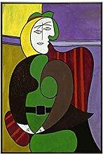 XNHXPH Picasso Affiches Et Gravures Abstrait Rouge