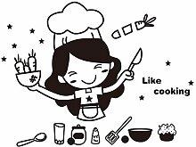 Xqi wangpu Stickers Muraux Chefs Cuisine Stickers
