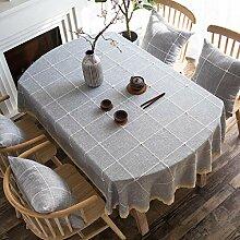 Xqi wangpu Tissu De Table Blanche Nappe Ovale