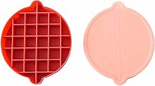XQxiqi689sy Bac à glaçons avec couvercle Rouge