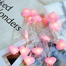 Xsky – guirlande lumineuse Led rose, cœur