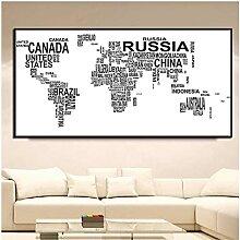 Xuetaozz Carte du Monde avec des Pays nom Anglais