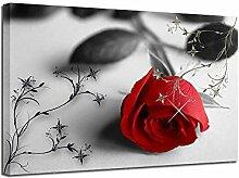XUSANSHI Toile de l'image Rose Rouge