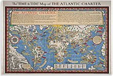 xuyang Poster vintage carte du monde vintage -