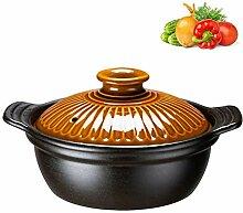 XUYONGZ Pot à Soupe En Céramique Avec Couvercle,