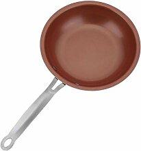 XWOZYDR 24cm Non Stick Skillet Copper Pan Poêle