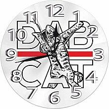 XXSCXXSC Horloge Murale Dab Chat drôle Chat Dab