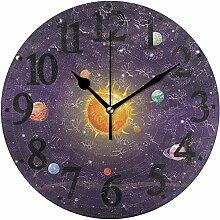 XXSCXXSC Horloge Murale Espace Rond système