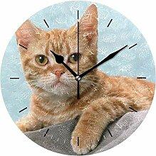 XXSCXXSC Horloge Murale Horloge Chat diamètre