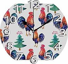 XXSCXXSC Horloge Murale Horloge Silencieuse Cock