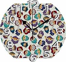 XXSCXXSC Horloge Murale Motif Étudiant Horloge