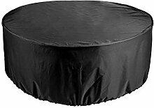 XXYANZI Bache Table de Jardin 41x70cm, Ronde