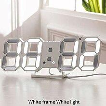 XXZIUINXI Réveil LED 3D Horloge Murale Design