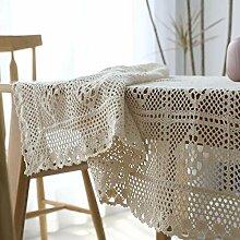 XY&XH Nappe en Coton tissée au Crochet idyllique,