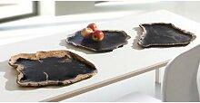 Xyleia Coupelle en bois fossilisé, Noir