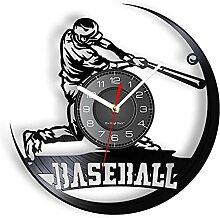 XYVXJ Jouer au Baseball Horloge Murale Moderne