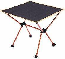 Yaduokj Table Pliable Aluminium léger Table de