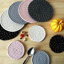 Yaeele Nouveau coton boisson Corde Coasters