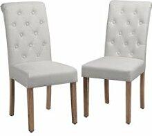 Yaheetech 2 chaises de salle à manger avec chêne