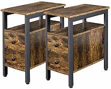 Yaheetech 2 Tables d'Appoint Industriel Tables