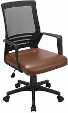 Yaheetech Chaise de Bureau Ergonomique Fauteuil de