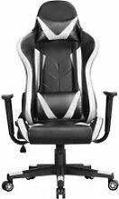 Yaheetech chaise de gaming ergonomique fauteuil