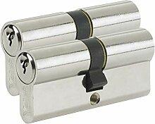 Yale B-ED4050KA-PB Euro Double cylindre 3 clés