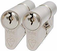 Yale KM4040-NP-KA Euro-double cylindre, 1 étoile,